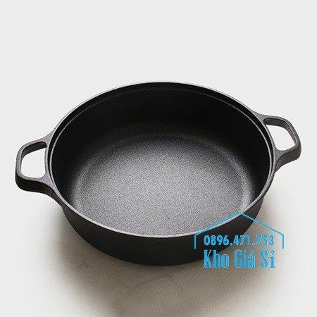 Chuyên cung cấp nồi gang đen đúc nguyên khối, nồi gang đen nấu lẩu cho nhà hàng, nồi gang đen cao cấp nhập khẩu nắp gỗ56
