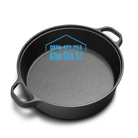 Chuyên cung cấp nồi gang đen đúc nguyên khối, nồi gang đen nấu lẩu cho nhà hàng, nồi gang đen cao cấp nhập khẩu nắp gỗ52
