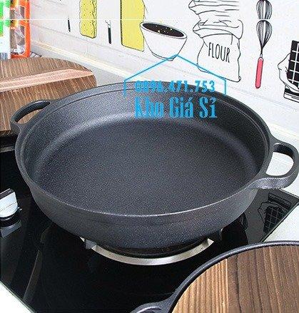 Chuyên cung cấp nồi gang đen đúc nguyên khối, nồi gang đen nấu lẩu cho nhà hàng, nồi gang đen cao cấp nhập khẩu nắp gỗ47