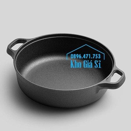 Chuyên cung cấp nồi gang đen đúc nguyên khối, nồi gang đen nấu lẩu cho nhà hàng, nồi gang đen cao cấp nhập khẩu nắp gỗ42