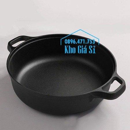 Chuyên cung cấp nồi gang đen đúc nguyên khối, nồi gang đen nấu lẩu cho nhà hàng, nồi gang đen cao cấp nhập khẩu nắp gỗ24