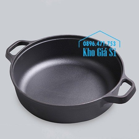 Chuyên cung cấp nồi gang đen đúc nguyên khối, nồi gang đen nấu lẩu cho nhà hàng, nồi gang đen cao cấp nhập khẩu nắp gỗ20