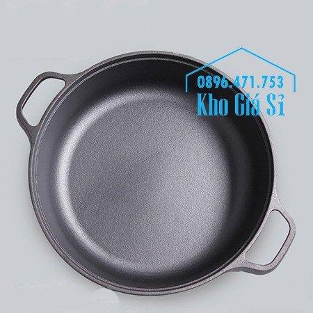 Chuyên cung cấp nồi gang đen đúc nguyên khối, nồi gang đen nấu lẩu cho nhà hàng, nồi gang đen cao cấp nhập khẩu nắp gỗ19