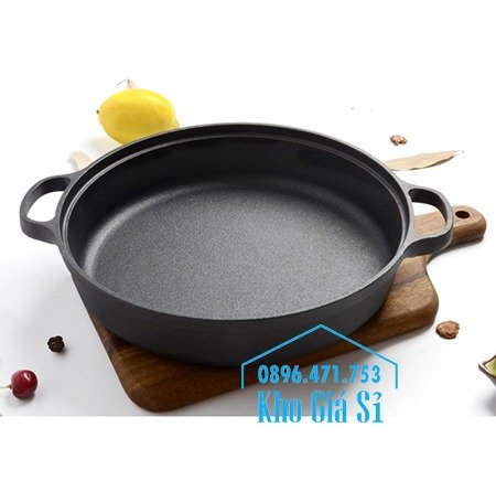 Chuyên cung cấp nồi gang đen đúc nguyên khối, nồi gang đen nấu lẩu cho nhà hàng, nồi gang đen cao cấp nhập khẩu nắp gỗ1