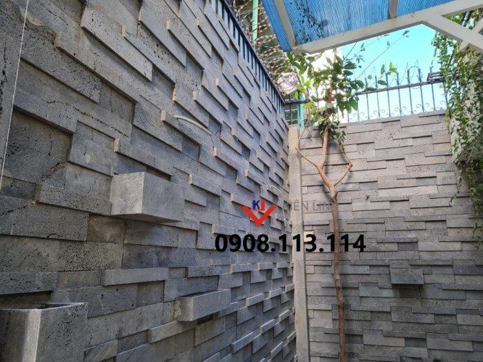 Đá 3D ốp tường ong xám - Ốp tường rào, ốp sân vườn đẹp4