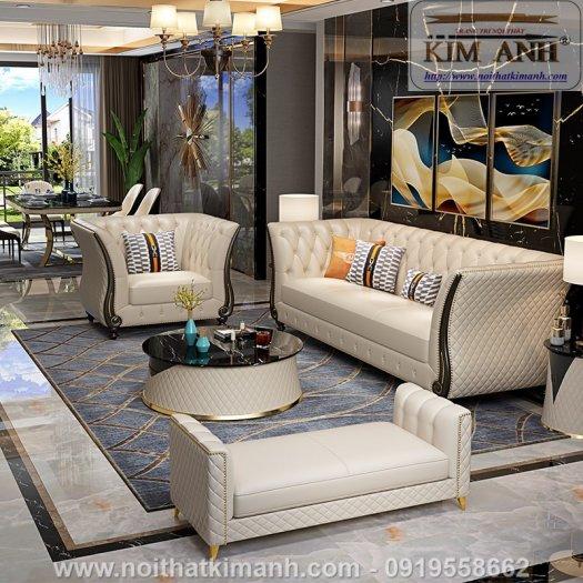 Sofa da cao cấp cho phòng khách thêm sang trọng tại Bến Cát, Bình Dương5