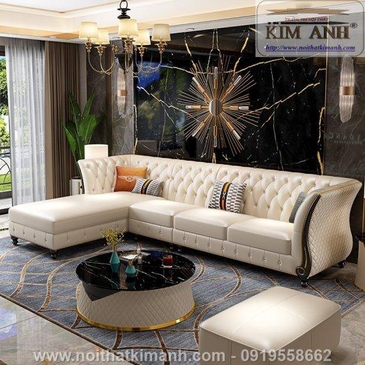 Sofa da cao cấp cho phòng khách thêm sang trọng tại Bến Cát, Bình Dương4