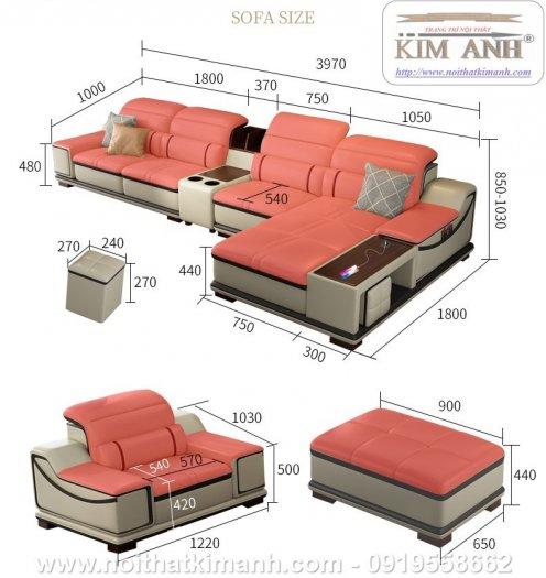 Sofa da cao cấp cho phòng khách thêm sang trọng tại Bến Cát, Bình Dương2
