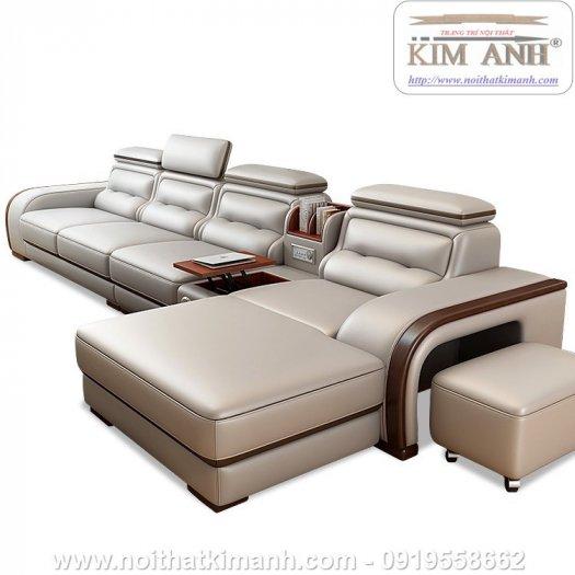 Sofa da cao cấp cho phòng khách thêm sang trọng tại Bến Cát, Bình Dương1