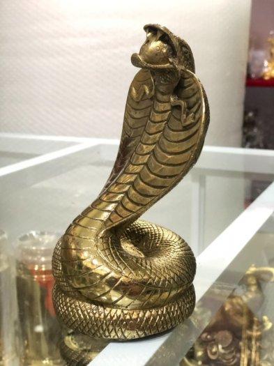 Rắn Chúa Bằng Đồng,Vật Phẩm Phong Thủy,Cao 17cm Hàng Chình Hãng3