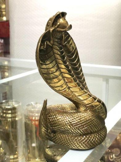 Rắn Chúa Bằng Đồng,Vật Phẩm Phong Thủy,Cao 17cm Hàng Chình Hãng1