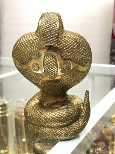 Rắn Chúa Bằng Đồng,Vật Phẩm Phong Thủy,Cao 17cm Hàng Chình Hãng0