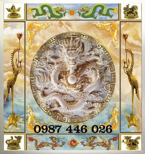 Gạch tranh phòng thờ trang trí đẹp HP6302