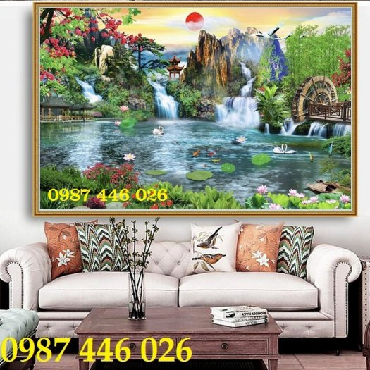 Gạch tranh phong cảnh thiên nhiên giao hòa HP379422