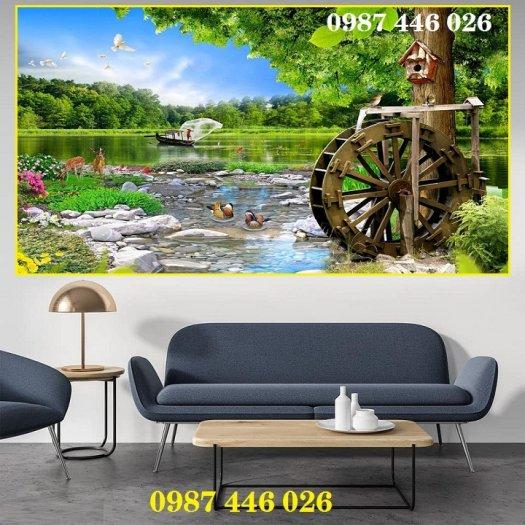 Gạch tranh phong cảnh thiên nhiên giao hòa HP379413
