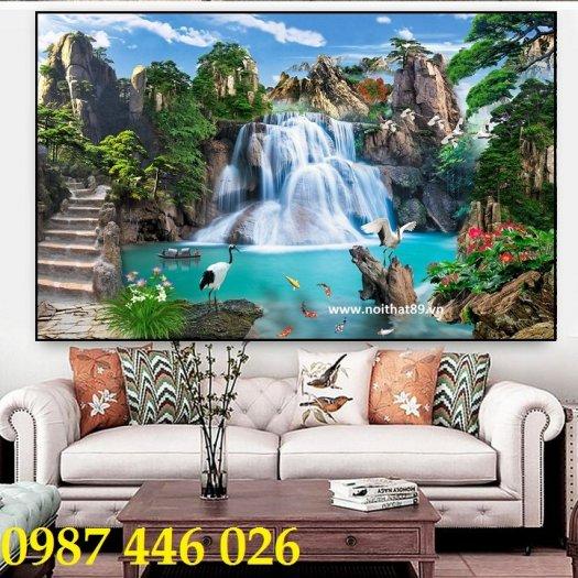 Gạch tranh phong cảnh thiên nhiên giao hòa HP379412