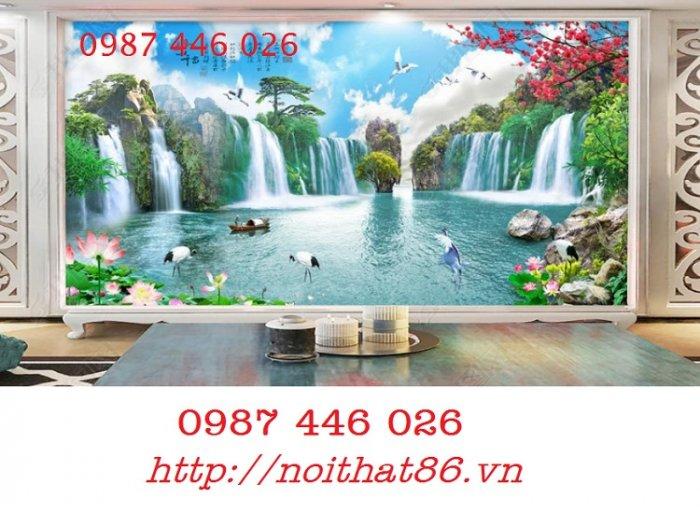 Gạch tranh phong cảnh thiên nhiên giao hòa HP379411