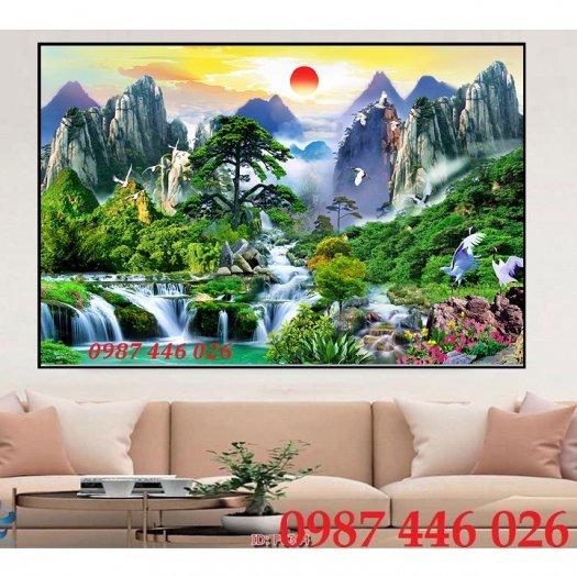 Gạch tranh phong cảnh thiên nhiên giao hòa HP379410