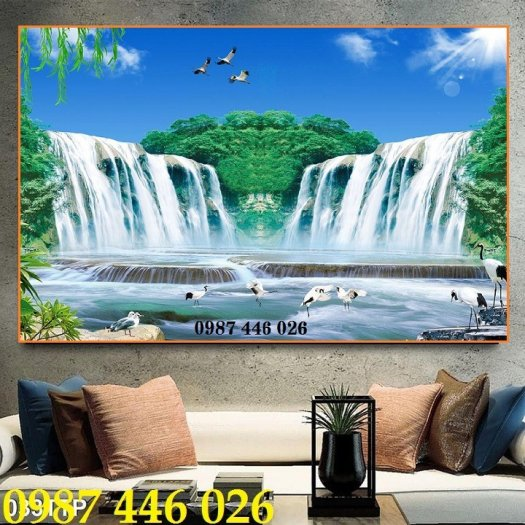 Gạch tranh phong cảnh thiên nhiên giao hòa HP37945