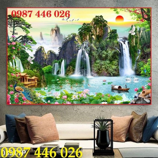 Gạch tranh phong cảnh thiên nhiên giao hòa HP37943