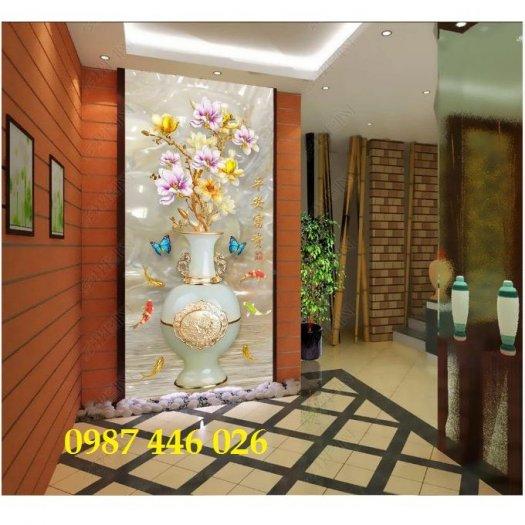 Tranh gạch bình hoa 3d HP103216