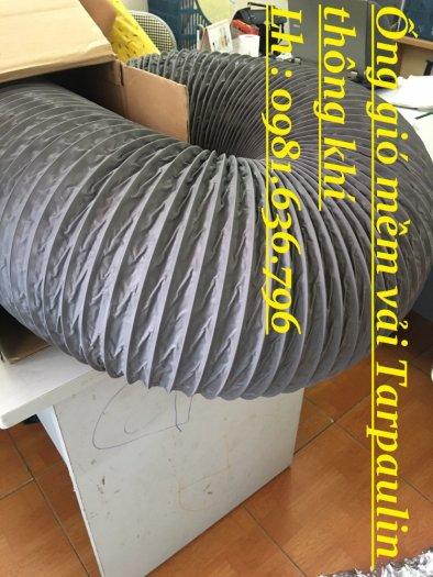 Ống gió mềm vải tarpaulin phi 300mm.0