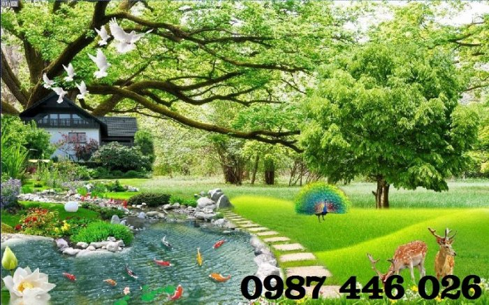 Tranh gạch men phong cảnh hàng cây HP05878