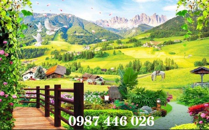 Tranh gạch men phong cảnh hàng cây HP05875
