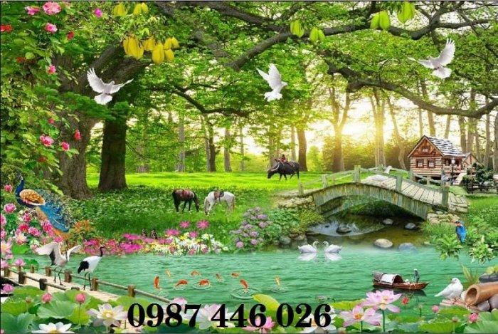 Tranh gạch men phong cảnh hàng cây HP05874