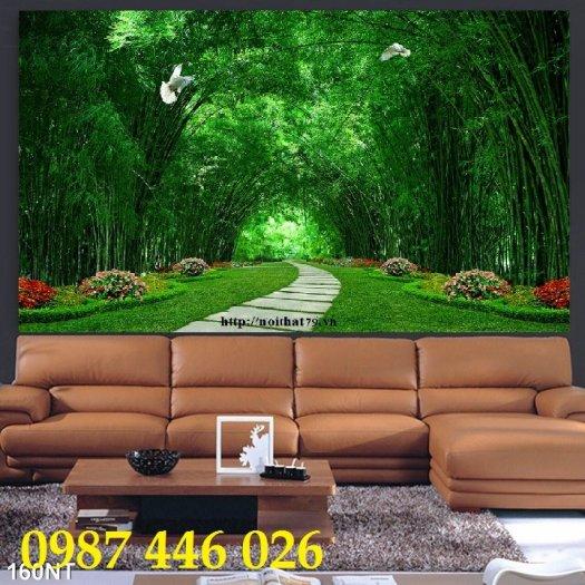 Tranh gạch men phong cảnh hàng cây HP05870