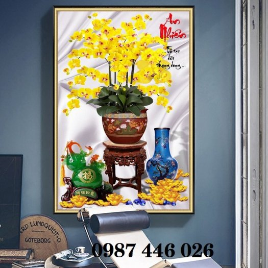 Bộ tranh gạch hoa lan Hp2938