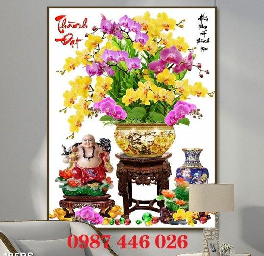Bộ tranh gạch hoa lan Hp2937