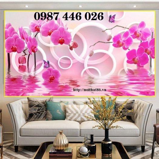 Bộ tranh gạch hoa lan Hp2936