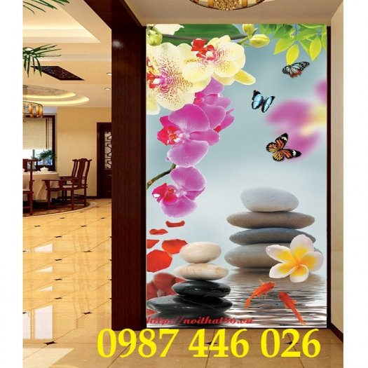Bộ tranh gạch hoa lan Hp2935