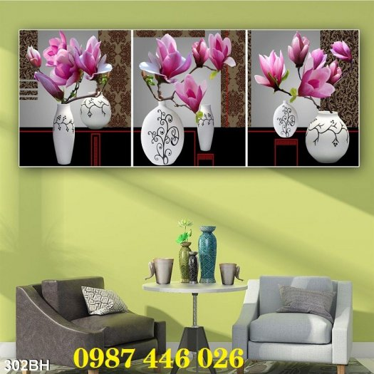 Bộ tranh gạch hoa lan Hp2934
