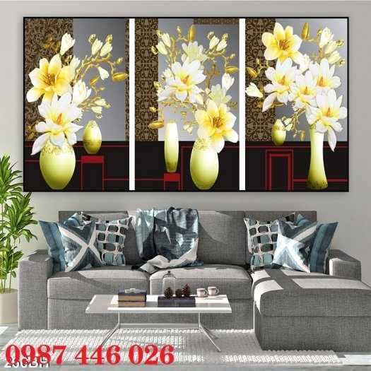 Bộ tranh gạch hoa lan Hp2932