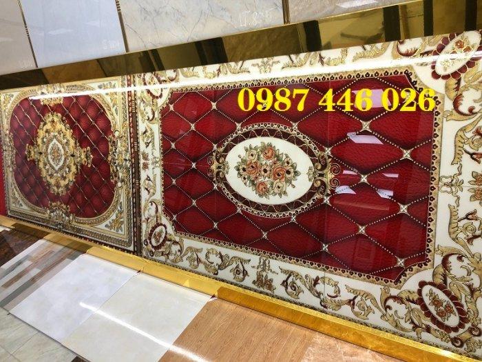 Thảm gạch sàn nhà khắc vàng phòng khách HP980010