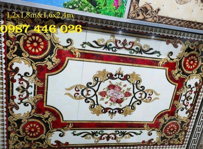 Thảm gạch sàn nhà khắc vàng phòng khách HP98007