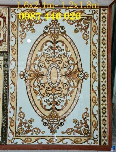 Thảm gạch sàn nhà khắc vàng phòng khách HP98005