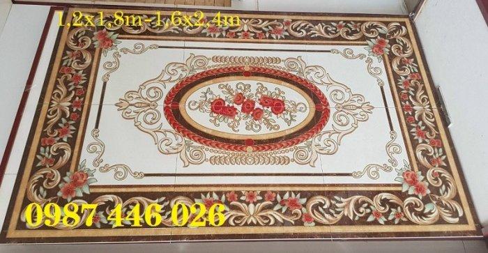 Thảm gạch sàn nhà khắc vàng phòng khách HP98004