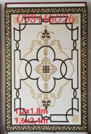 Thảm gạch sàn nhà khắc vàng phòng khách HP98003