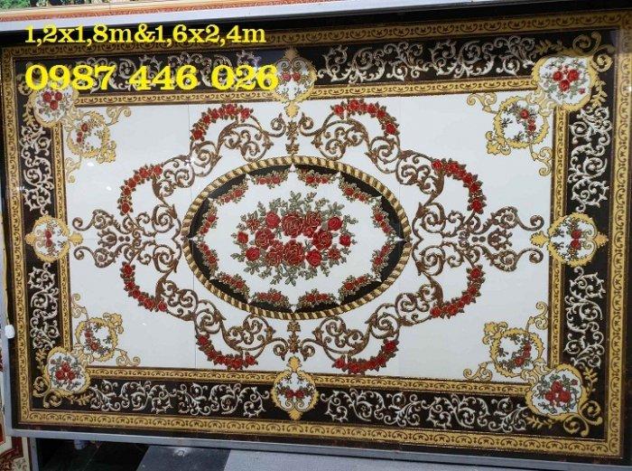 Thảm gạch sàn nhà khắc vàng phòng khách HP98000