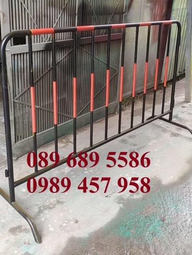 Hàng rào di động sơn phản quang, hàng rào inox304, Hàng rào sơn mầu xanh4