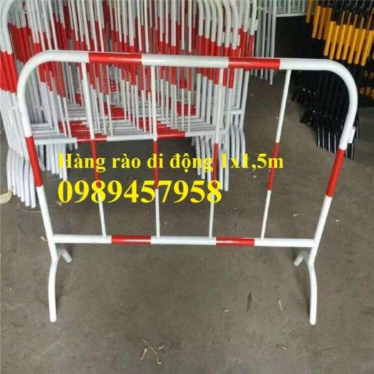Gia công Khung hàng rào di động gắn bánh xe 1mx2m, 1,2mx2m, 1,5mx 2m5