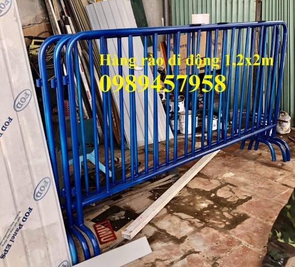 Gia công Khung hàng rào di động gắn bánh xe 1mx2m, 1,2mx2m, 1,5mx 2m3
