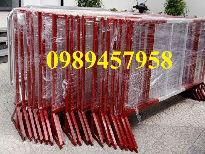 Gia công Khung hàng rào di động gắn bánh xe 1mx2m, 1,2mx2m, 1,5mx 2m1