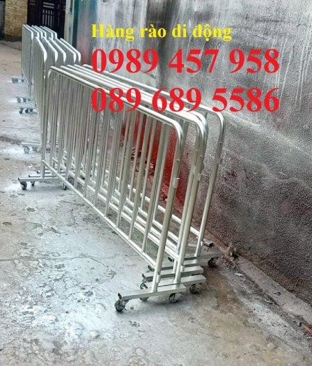 Gia công Khung hàng rào di động gắn bánh xe 1mx2m, 1,2mx2m, 1,5mx 2m0