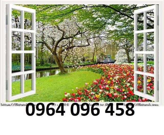 Tranh cửa sổ 3d - tranh gạch 3d cửa sổ - BV336