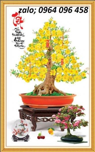 Tranh hoa mai - gạch tranh 3d hoa mai - HB446