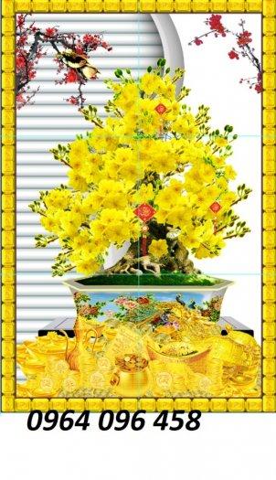 Tranh hoa mai - gạch tranh 3d hoa mai - HB440